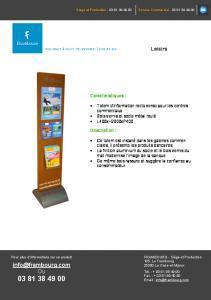 CASINO Totem d'information